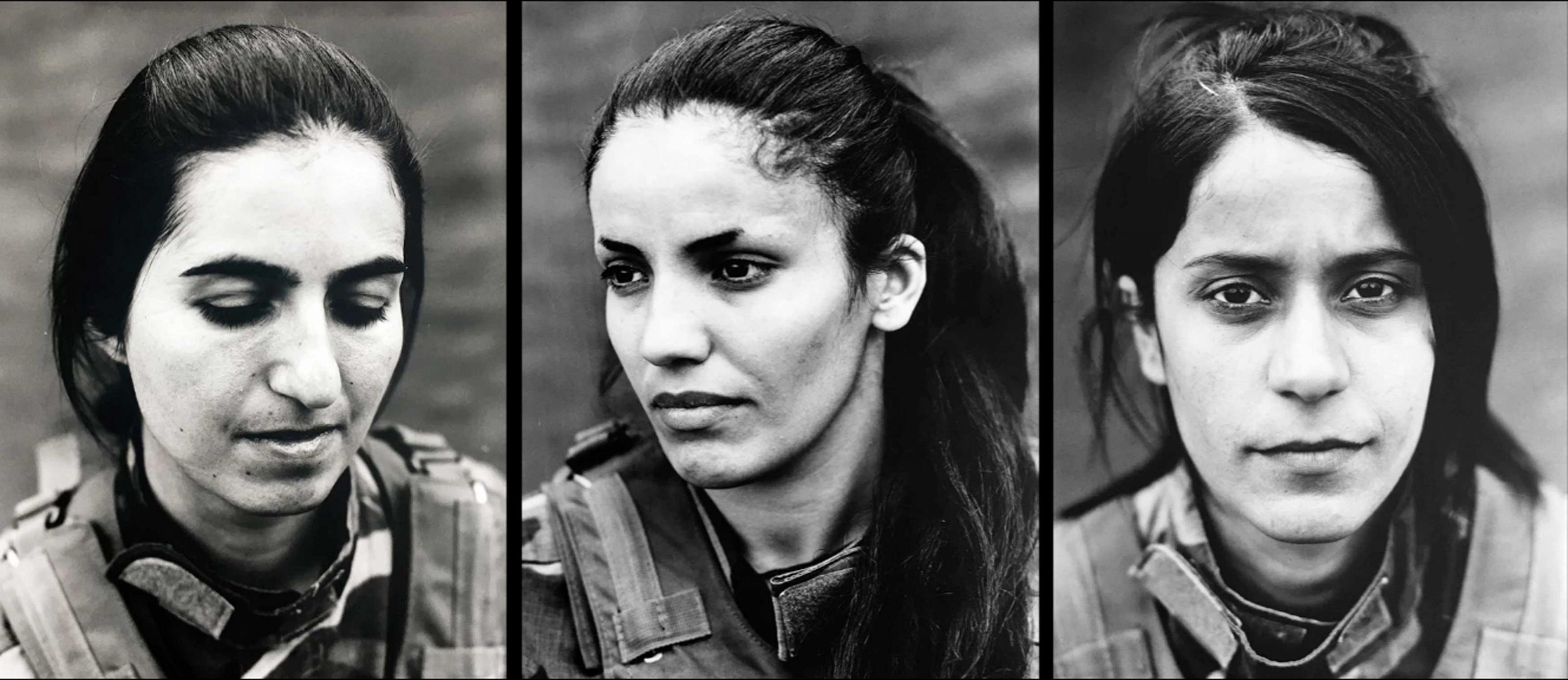 Portraits of Peshmerga women